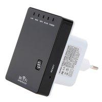 achat en gros de gamme d'antenne sans fil-300Mbps Mini Wireless-N répéteur Wifi Antenne 802.11b / g / n 802.3 / 3U routeur UE US Adaptateur UK Range Expander réseau Amplificateur C2662
