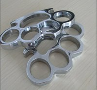 agent steel - Self defense BRASS KNUCKLE mm thick thick weaponry agents Knuckles Punch button man steel finger Silver