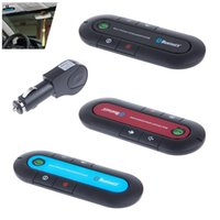 Wholesale New Wireless Stereo Bluetooth Handsfree Speakerphone Car Kit With Charger Hands Free Bluetooth Car Kit
