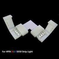 Wholesale MJJC mm mm Degree L Shape PIN LED Corner Connectors For V V DC Single Color Led Strip No Soldering