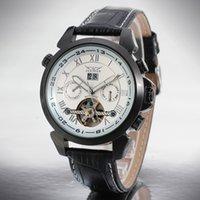 Wholesale Original JARGAR Watches Wristwatches For Man Automatic Mechanical Wristwatch Black Luxury PU Leather Watchband Belt Wrist Watch