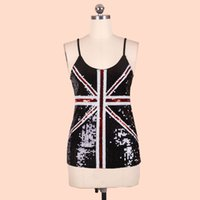 british sexy girls - Sexy Sequin camisole British Flag tank top for women Summer lady s paillette tops girl tees