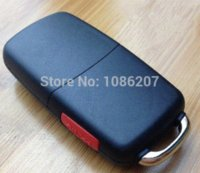 Wholesale Folding Remote Key Shell For Audi A8 Audi A8 Key Shell WITH LOGO car Alarm Systems amp Security