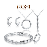 bamboo plants sale - Hot Sale Platinum Plated Bamboo Earring Necklace Bracelet Ring