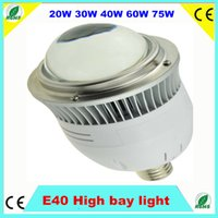 Wholesale 10pcs High power super brightness E40 LED high bay light W W W W W Led Bulb ETL industry led lighting AC85 V