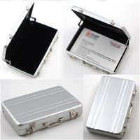 bank gift cards - Metal Mini Briefcase Suitcase Business Bank Card Name Credit Card Holder Case Box Gift