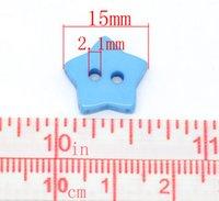 Cheap 200PCs Mixed Star Shape 2 Holes Resin Sewing Buttons Scrapbooking 15x15mm