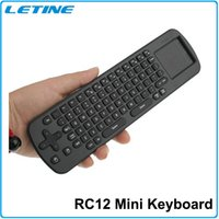 android palyer - Mini Fly Air Mouse RC12 Gyroscope Handheld Remote Control RC12 GHz Wireless Keyboard for Google Android TV Box Mini PC Palyer Box