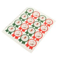 Wholesale Merry Christmas Badge Sticker Gift Wrapping Food Bag Decor Seal Paper Labels DIY Decoration Gifts Packing Sticker
