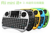 Wholesale Rii Mini i8 G Wireless Keyboard Fly Air Mouse with Multi Media Remote Control Touchpad Handheld for Google Android Smart TV Box Tablet