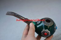ancient chinese umbrellas - CHINESE ANCIENT ARISTOCRATIC DEDICATED COPPER INLAY BEESWAX PIPE SMOKE WR0489