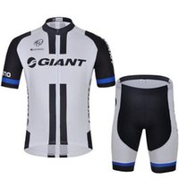 Wholesale 2015 New Arrival team giant cycling jersey men good quality short bicycle shirts and padded shorts