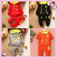 Wholesale Brand New spring autumn baby boy baby girl clothing set long sleeve hoodies sets Tops pants baby set baby clothing set months