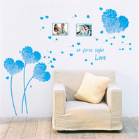 Wholesale 50 cm love blue grass wall stickers for bed Room wallpaper decorative Wall paper removable wall decor on sale new
