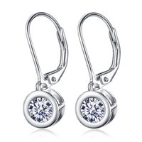 Wholesale New sterling silver CZ earrings Korean fashion jewelry factory direct anti allergic agents