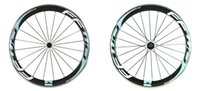 aluminium wheel rims - 1 year warranty mm carbon wheels aluminium rim mm width k C glossy clincher white blue decal road bike wheels