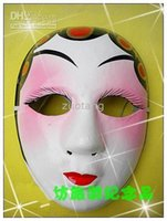 beijing opera face - Women Beijing Opera Masks Chinese style Full Face Paper Pulp Masquerade Masks for Wedding Christmas Birthday Party to Decorative