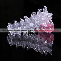Wholesale caterpillar shape bump penis vibrating sex vibrator cock ring sleeve sex toys adult products XQ