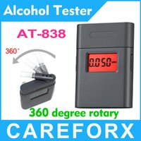 Wholesale Electronic Breathalyzer with Mouthpieces Time Mini Alcohol Tester brerath tester