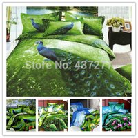 bedroom comforters sets - Beauty Peacock reactive printing bed clothes bedroom set for queen king size comforter bedding sets with quilt cover sheets