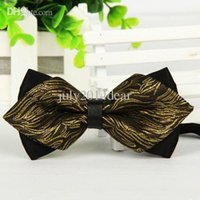 bowties - Coachella Ties New Arrival Paisley Diamond Bow Tie Adjustable Adults Bowties Tuxedo Bow tie butterfly Pre Tied