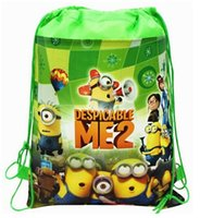 Wholesale Despicable Me Minions cartoon drawstring backpack children drawstring bags for kids children backpack children organize bag gift bag cm