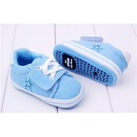 Wholesale Kids Boys Sneakers Fashion Design Canvas Lovely Hook Loop SportFirst Walkers Infant Comfortable Sole Shoes For Months