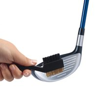 Wholesale 2 Sided Brass Wires Golf Club Brush Groove Golf Cleaner Cleaning Kit