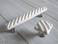 Wholesale Gold White Dresser Knobs Pulls Drawer Pull Handles Ceramic Kitchen Cabinet Door Knobs Handle Porcelain Furniture Handle