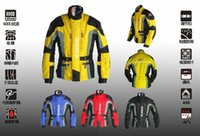 Wholesale DUHAN D motorcycle racing jersey clothes dress jackets motorcycle jacket Long dust coat made of oxford have black blue red yellow color