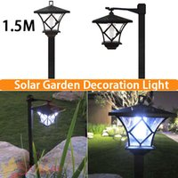led lawn light - Hight M Solar Powered Panel LED Spot Light Landscape Outdoor Garden Path Lawn Courtyard Decoration Luminaria Lampada Solar