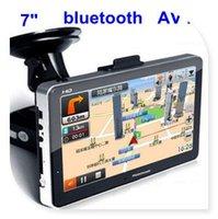 Wholesale 7 inch GPS Navigation HD touch screen Bluetooh Av In FM Transmitter GB memory freeshipping
