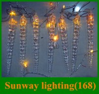 Wholesale Icicle lights christmas lights LED string m icicles m icicles beautiful cute landscape christmas party decoration quickly shipping