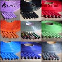heat shrink - 1M battery PVC Heat Shrink Tubing Re wrapping battery various colors for sony vtc3 vtc4 vtc5 samsung Panasonic LG batteries