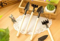 Wholesale FreeDHL Garden tool Three piece set rake shovel spade Small DIY Tools Gardening Supplies Practical Set plant Tools top quality E369L