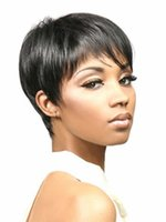 short hair wigs - High Temperature Wire Synthetic Wigs Short Black Hair Curly Wig Cap With Choppy Face framing Bangs for Women