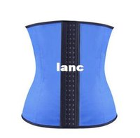 Wholesale Latex Waist Trainer Vest Plus Size Waist Training Corsets Hot Shapers Women Slimming Body Shaper Latex Waist Cincher Shapewear