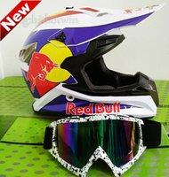 atv alloys - DOT motocross helmets motorcycle helmets with goggles gift off road racing ATV dirt bike helmet Casco Capacete