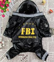 Wholesale Cute FBI letter Style Pet Dogs Raincoat Pet coat dogs coat pet cloth dog cloth dog product