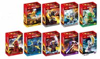 Wholesale 4 cm Set DECOOL Hero Ninjago Lloyd Bricks Toy Set Ninja Action Figures Minifigures Building Blocks Compatible With cheap LY