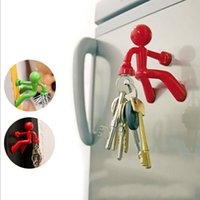 Wholesale Creative Home Decoration Wall Climbing Boy Magnetic Key Holder Fridge Magnets colors availlable