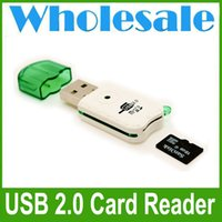 Wholesale New Portable USB Adapter Micro SD SDHC Memory Card Reader Writer Flash Drive