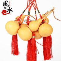 Wholesale Club Lucky Feng Shui feng shui natural gourd ornaments car ornaments home jewelry Lucky gourd hand twist
