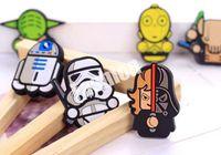 Wholesale Star Wars Fridge Magnets Refrigerator Sticker Cartoon Darth Vader Solider Yoda Funny Doll Toy PVC Megnet CM Styles Factory
