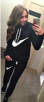 Wholesale 2016 Womens Letter Printed Fleece Sweatshirts Hoodies Pullover set Tracksuits sweatshirt and pant Joggings Sport Hot sale