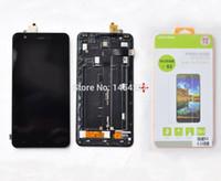 al por mayor marcos hk-Al por mayor-Nueva pantalla táctil original de pantalla LCD de pantalla Digitizer + Frame + en vidrio templado para Jiayu S3 teléfono celular del envío libre HK FIJA