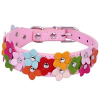 bichon puppies - Puppy Dog Collar Pet Doggie Strap With Cute Flower for Teddy Pomeranian Bichon S M colors Inch cm Wide