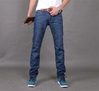 cheap jeans for men - Famous Brand Designer Jeans Men Cotton Dark Blue Straight Mens Light Denim Jeans Cheap Denim Joggers For Men Q1366
