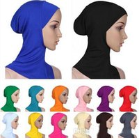 arab head cover - Fashion Islamic Turban Head Wear Band Neck Chest Cover Bonnet Muslim Short Hijab Shawls Arab Women Scarf