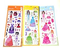Wholesale factory shipments burst models Barbie Dressup Girl book stickers stickers bubble stickers